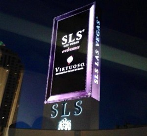 SLS Virtuoso Sign Vegas