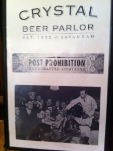 Crystal Beer Parlor Menu