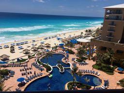 Ritz Carlton Cancun Pool and Beach
