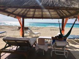 Ritz Cancun Beach Cabana