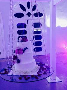 Wedding Cake on a Swing Sanctuary Cap Cana