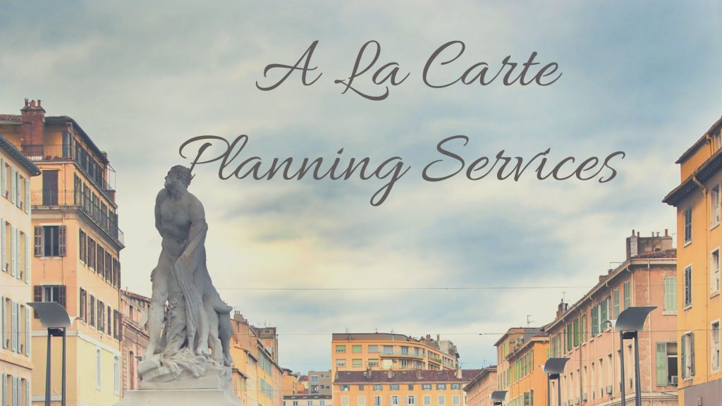 Bella A La Carte Planning